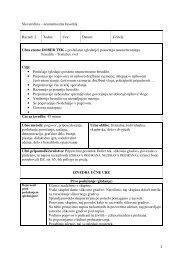 Učna enota: DOBER TEK –poslušanje (gledanje) - Praktik