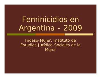 Feminicidios en Argentina - 2009