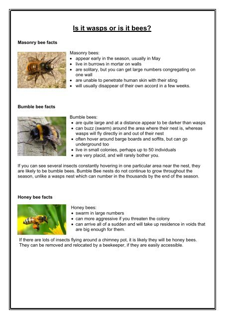 have a look at this bee factsheet and see what best