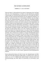 Über das Kuttern von Brühwurstbrät HAMMER, G. F. und S ...