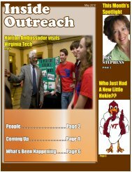 May 2010 - Outreach & International Affairs - Virginia Tech