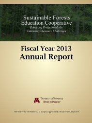 Fiscal Year 2013 - Sustainable Forests Education Cooperative