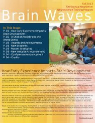Brain Waves Fall 2013 - Neuroscience Training Program