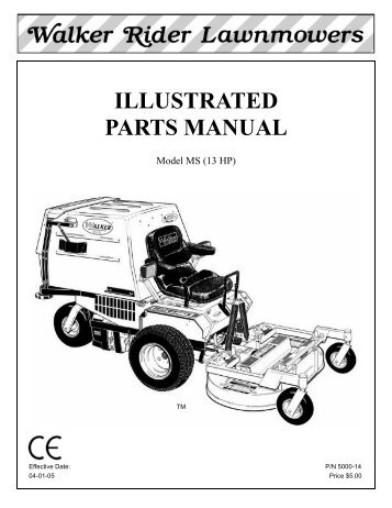 Walker Mower repair Manual