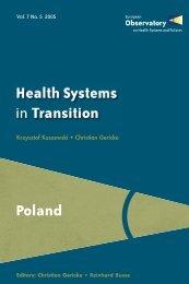 Poland HiT Volume 7 No 5 - World Health Organization Regional ...