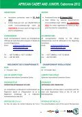 UAJ règlement du championnat junior Botswana 2012 - Page 4
