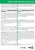 UAJ règlement du championnat junior Botswana 2012 - Page 6