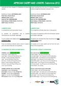 UAJ règlement du championnat junior Botswana 2012 - Page 7