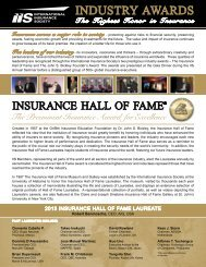 2013 awards program - International Insurance Society