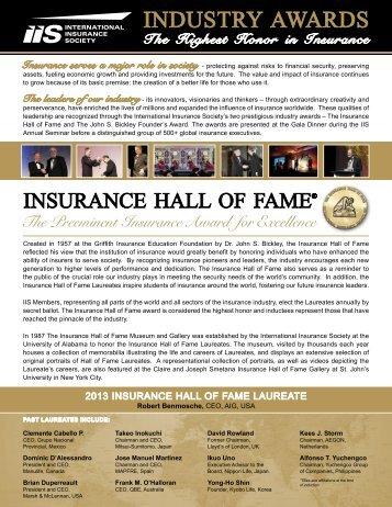 2013 awards program - International Insurance Society