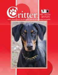 ALL PAGES-FEBRUARY 2013 - Critter Magazine