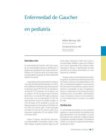 Enfermedad de Gaucher en pediatría