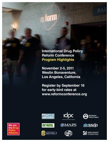 International Drug Policy Reform Conference Program Highlights ...