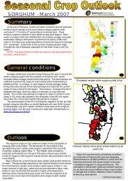 Seasonal crop outlook - SORGHUM - March 2007