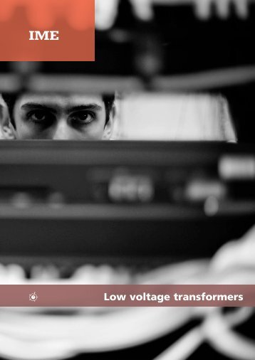 Low voltage transformers - Ime