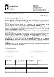 Download Formular Elternsprechtag - Gymnasium Lindlar
