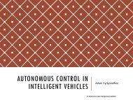 Autonomous Control in Intelligent Vehicles - Computer Vision and ...