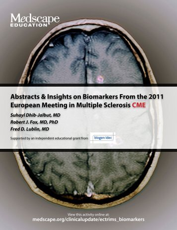 Abstracts & Insights on Biomarkers From the 2011 ... - Medscape