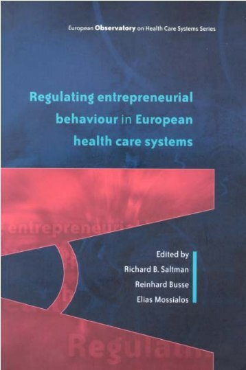 EN: Regulating entrepreneurial behaviour in European health care ...