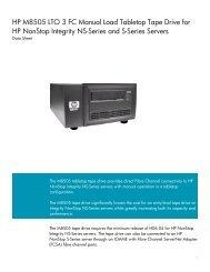 M8505 Data Sheet - HP NonStop - Hewlett Packard