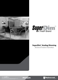 SuperDim Technical Brochure - Universal Lighting Technologies
