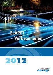 Elåret 2012 - Svensk energi