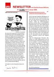 NEWSLETTER 01-2009 - Daniela Behrens