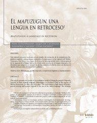 El mapuzugun, una - SciELO