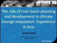 The role of river basin planning and development in climate change ...