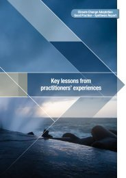 Key lessons from practitioners' experiences - National Climate ...