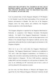 Speech by Mr Low Beng Tin at Iskandar Mission Trip - Singapore ...
