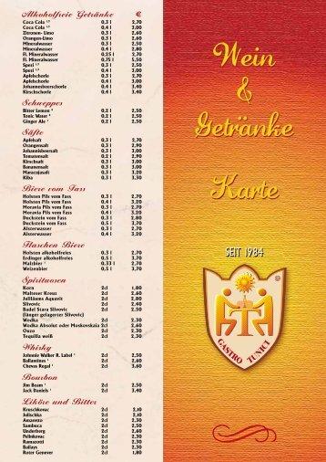 Wein & Getränke - Restaurant Dubrovnik