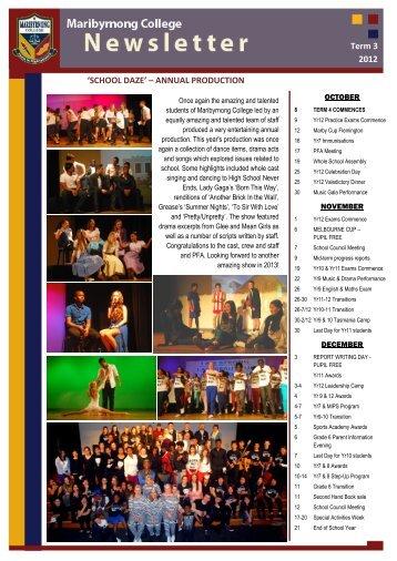 Term 3, 2012 - Maribyrnong College