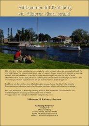 Välkommen till Karlsborg vid Vätterns västra strand Välkommen till ...