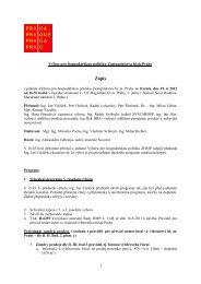 Zápis z 3. jednání Výboru pro hospodářskou politiku - Praha.eu