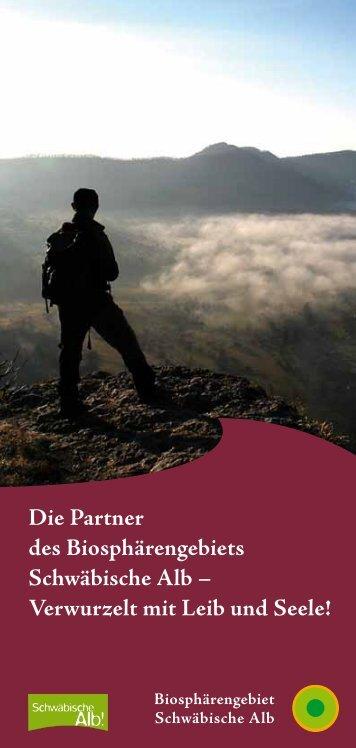 Die Partner des Biosphärengebiets Schwäbische Alb – Verwurzelt ...