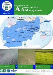 Afghanistan's Agromet Bulletin for the Month of January 2010 ...