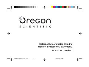 BAR988HG Portuguese R0 - Oregon Scientific