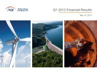 Q1 2013 Financial Results - PGE