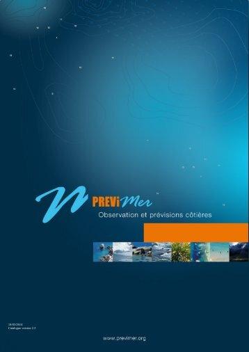 Catalogue des produits numériques PREVIMER