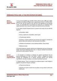 ordenança fiscal núm. 3.3 taxa per ocupació de subsòl ordenança ...
