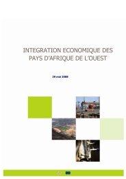 INTEGRATION ECONOMIQUE DES PAYS D'AFRIQUE DE L'OUEST