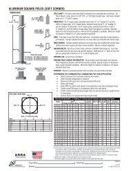 aluminum square POles (sOft cOrner) - LSI Industries Inc.