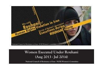 women executed under Rohani