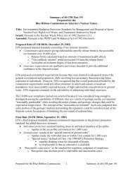 Summary of 40 CFR Part 191 for BRC - Blue Ribbon Commission on ...