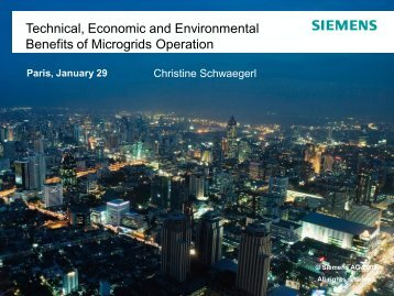 Technical, Economic and Environmental Benefits of Microgrids ...
