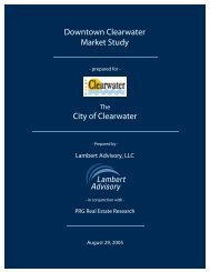 Downtown Clearwater Market Study