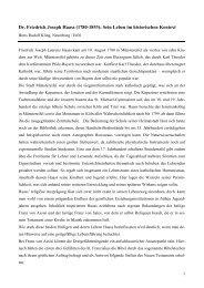 Dr. Friedrich Joseph Haass: Sein Leben im historischen Kontext