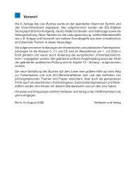 Vorwort - Kirschbaum Verlag Gmbh