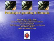 Pathological gambling in Romania - European Association for the ...